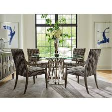 lexington home brands ariana riviera stainless dining table