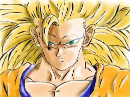 goku super saiyan 3 anime speedpaint drawing fabrizio1989