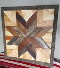 Reclaimed Barn Wood Art Reclaimed Wood Star Quilt Block Wall Art 26 Inch Barn Quilt