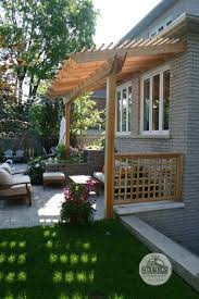 Pergola Backyard Ideas by Best 25 Pergola Attached To House Ideas Only On Pinterest