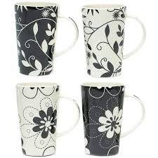 Porcelain Coffee Mugs Porcelain Coffee Mugs Daisy May Set Of 4 In Coffee Mugs