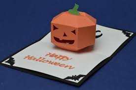 3d pumpkin pop up card template creative pop up cards