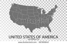us map outline eps usa map isolated on transparent background stock vector 654618463