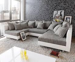 wohnzimmer couch xxl wohnlandschaft clovis xxl 300x185 weiss hellgrau hocker roomido com