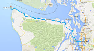 Seattle On A Map by Day Ride To Cape Flattery Steel Horse Journeys