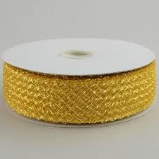 metallic gold ribbon 1 5 deco flex mesh ribbon metallic gold 30 yards rs400345