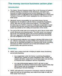 7 sample business action plan free sample example format download