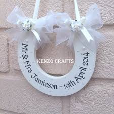 horseshoe wedding gift personalised mr mrs wedding horseshoe keepsake gift