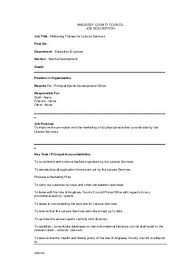 marketing officer job description sales manager cover letter