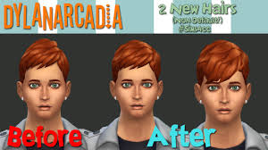 sims 4 hairs dylanarcadia boyfriend and short neat hairstyles