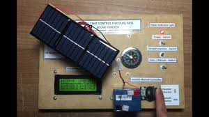 real time control for dual axis solar tracker