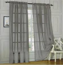 90 Inch Sheer Curtains Amazon Com Elegant Comfort Voile84 Window Curtains Sheer Panel