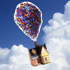 balloons that float up house with balloons disney family