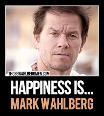 Handsome Man Meme - happiness is mark wahlberg markwahlberg meme my love my man