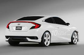 future honda accord 2016 honda civic coupe hatchback and sedan rendered autoguide