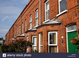Brick Homes by Victorian Red Brick Terraced Homes In Belfast Northern Ireland Uk