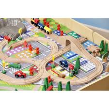 train and track table plum wooden train set and track table plum train track activity
