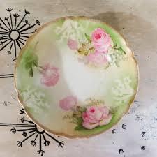 rs prussia bowl roses antique porcelain bowl germany bowl serving bowl decorational