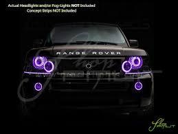 range rover purple 06 09 land range rover sport led colorshift halo rings head fog