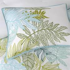 Tropical Comforter Sets King Tropical Comforter Set 7pc Cotton Leaf Print Coastal Bedding