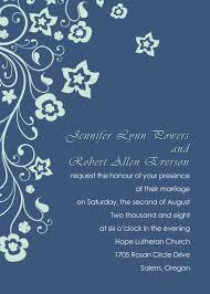 Navy Blue Wedding Invitations Discount Retro Garden Navy Blue Floral Wedding Invitation Ewi166
