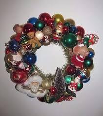 ornament wreath vintage shiny brite 16 glass bottle
