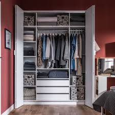 clothes storage cabinets with doors 4you bi fold 4 door wardrobe with built in drawers in white walk