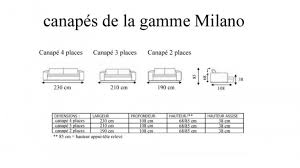 taille canapé 3 places taille canap 3 places dimension canape places canapac