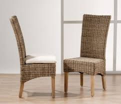 Modern High Back Dining Chairs All Weather Wicker Dining Chairs