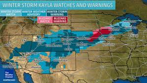 Las Vegas Weather Map by Blizzard Warnings Blanket Plains Midwest Houston News Info