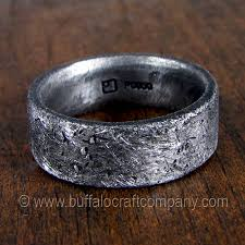 rustic mens wedding bands rustic ring palladium men s wedding band inspired by a lifestyle