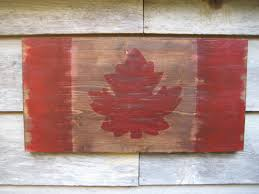 Candaian Flag Canada Flagdistressed Flagreclaimed Wood Flagwood Wall