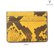 Engraved Leather Business Card Holder Business Card Holder Python Leather Personalized