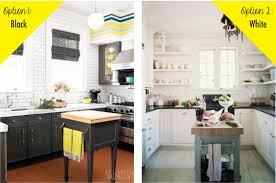 black bottom and white top kitchen cabinets the options black or white green diy