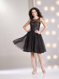 pretty illusion knee length black organza a line mother of the