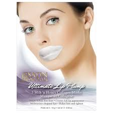 Collagen Mask satin smooth lip plump collagen mask 3 pk ea the industry source