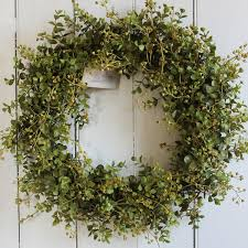 eucalyptus wreath faux wreaths from cuttings home collection in sewickley pa