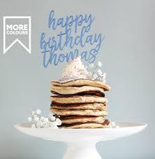 pan cake topper happy birthday cake topper personalised cake topper name cake