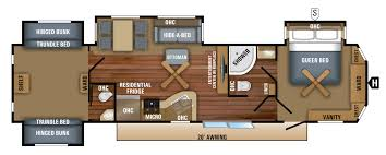 Travel Trailer Floor Plans With Bunk Beds by 2018 Jay Flight Bungalow Travel Trailer Floorplans U0026 Prices
