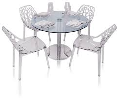 eve round glass modern dining table kitchen and dining