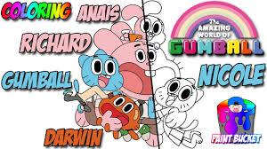 amazing gumball coloring u2013 cartoon network