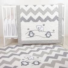 Chevron Boy Crib Bedding Penguin Baby Quilt Chevron Gray Toddler From Custom Quilts By