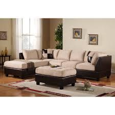 furniture yosemite sectional sofa in cream with storage ottoman