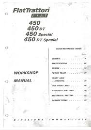 fiat 450 450 special 450 dt 450 dt special workshop manual 148