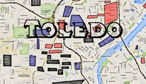 Central Ohio Map by Toledo Gang Map Hoods Map Of The Glass City