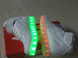 light up high tops nike nike air force 1 high light up led shoes white cheap discount nike