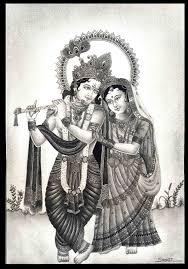 pencil sketch of radha krishna desipainters com