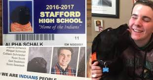 year 11 yearbook service dog goes viral has its own school id featured in school