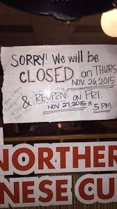 sorry for the inconvenience but we will be closed all day on