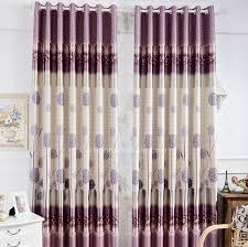 Blackout Purple Curtains Decorative Dandelion Floral Pattern Purple Polyester Thick
